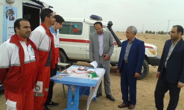 بازديد فرماندار از ايستگاههاي ارائه خدمات به مسافران نوروزي