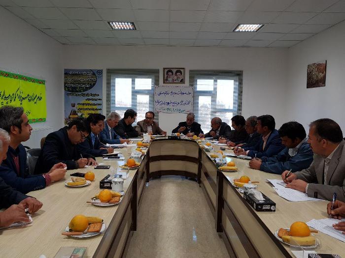 جلسه هيأت مديره نظام صنفي كشاورزي و منابع طبيعي برگزار گرديد